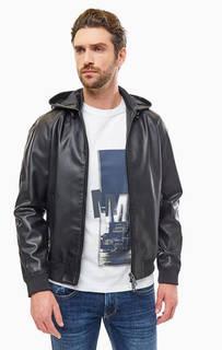 Черная куртка с капюшоном Armani Exchange