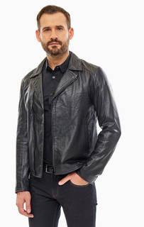 Кожаная куртка косуха Armani Exchange