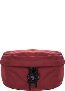 Текстильная поясная сумка бордового цвета Napapijri