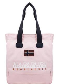 Розовая хлопковая сумка с длинными ручками Napapijri