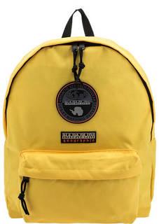 Желтый рюкзак с нашивками Napapijri
