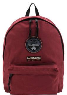 Бордовый рюкзак с нашивками Napapijri