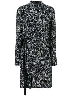 A.F.Vandevorst платье с запахом с длинным рукавами