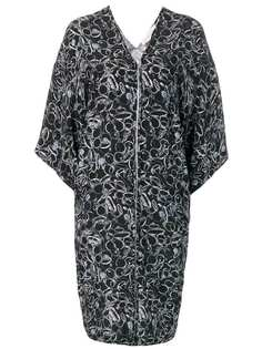 A.F.Vandevorst платье на молнии с принтом