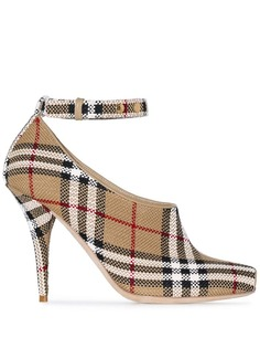 Burberry туфли-лодочки в клетку Vintage Check с открытым носком