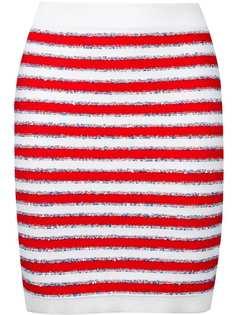 Balmain юбка мини в полоску