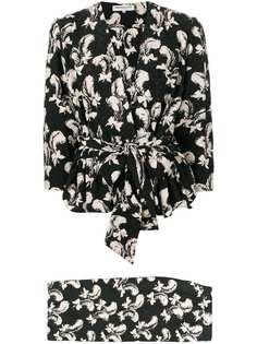Yves Saint Laurent Vintage костюм с юбкой и принтом 1970-х годов