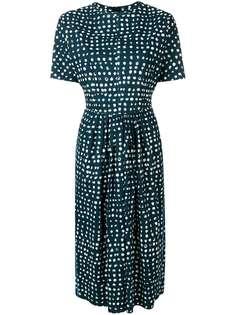Marni приталенное платье с расклешенным подолом