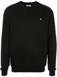 Wood Wood logo knit sweater