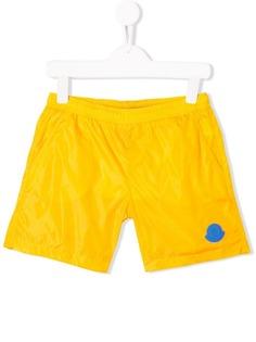 Moncler Kids плавки-шорты с логотипом