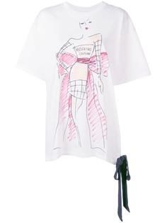 Moschino футболка с принтом Couture