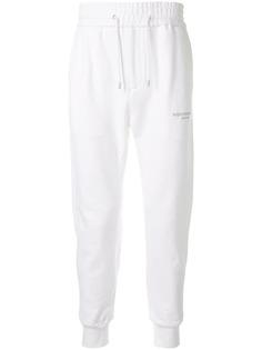 Wooyoungmi спортивные брюки на шнурке с логотипом
