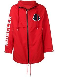 Moncler logo print hooded coat