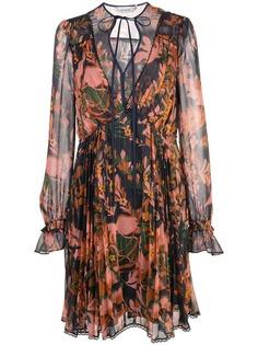 Coach платье с цветочным принтом