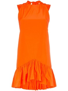 MSGM peplum hem bow back mini dress