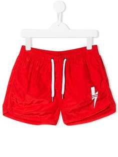 Neil Barrett Kids плавки-шорты с принтом