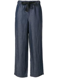 Emporio Armani брюки прямого кроя с поясом-бантом