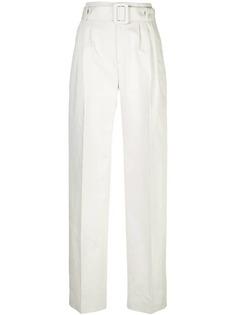 Off-White брюки прямого кроя с поясом