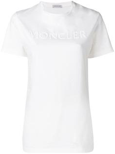Moncler футболка с логотипом из бисера