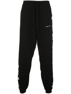 Off-White спортивные брюки с отделкой интарсия