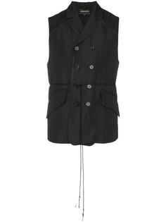 Ann Demeulemeester francis patch artwork waistcoat