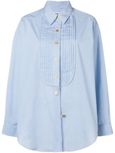Chanel Vintage 1980s micro check loose shirt
