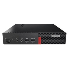 Компьютер LENOVO ThinkCentre M710q Tiny, Intel Core i3 6100T, DDR4 8Гб, 500Гб, Intel HD Graphics 530, Windows 10 Professional, черный [10mss0p800]