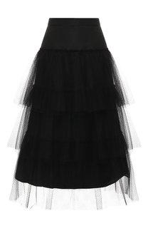 Многоярусная юбка-миди Burberry