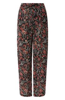 Хлопковые брюки с принтом Isabel Marant Etoile