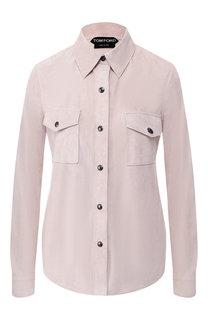 Кожаная рубашка Tom Ford