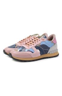 Комбинированные кроссовки Valentino Garavani Rockrunner Valentino