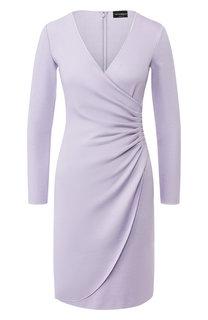 Платье из вискозы Emporio Armani