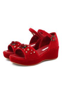 Бархатные босоножки Dolce & Gabbana