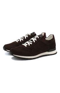 Замшевые кроссовки Kiton