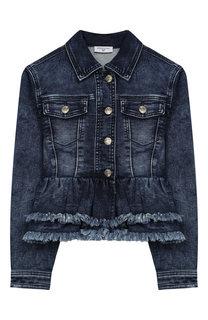 Джинсовая куртка с баской Monnalisa