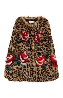 Укороченная шуба из меха кролика Dolce & Gabbana