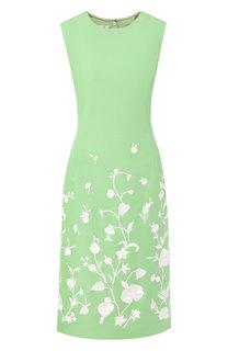 Платье-миди из шерсти Oscar de la Renta