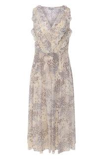 Платье с принтом REDVALENTINO