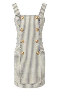 Хлопковое платье Balmain