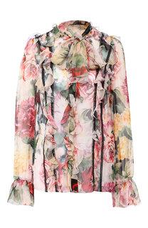 Блузка из смеси шелка и хлопка Dolce & Gabbana