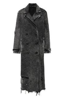 Двубортное пальто Denim X Alexander Wang