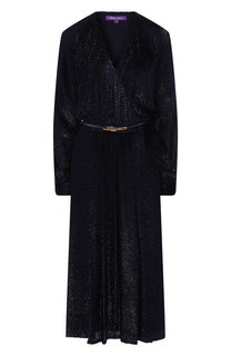 Платье из смеси вискозы и шелка Ralph Lauren
