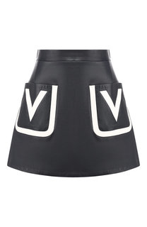 Кожаная юбка Valentino
