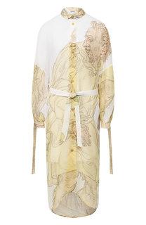 Платье с принтом Loewe
