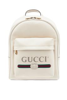 Белый рюкзак с винтажным логотипом Gucci