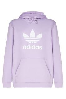 Сиреневое худи с логотипом Adidas