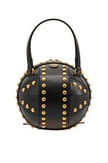 Черная мини-сумка с заклепками Gucci