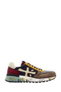Разноцветные комбинированные кроссовки Mick Premiata