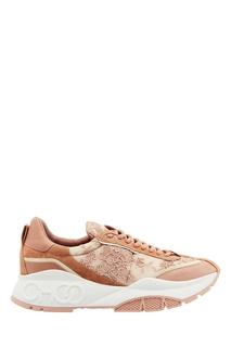 Розовые кроссовки Raine Jimmy Choo