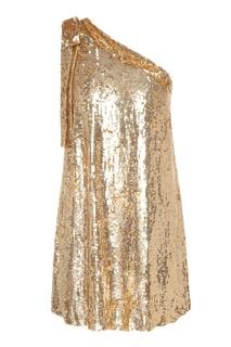 Золотистое платье с пайетками P.A.R.O.S.H.